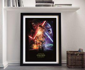Force Awakens Star Wars Framed Artwork