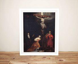 Crucifixion Gabriël Metsu Framed Print on Canvas