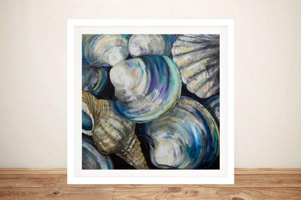 Key West Shells Framed Abstract Art for Sale AU