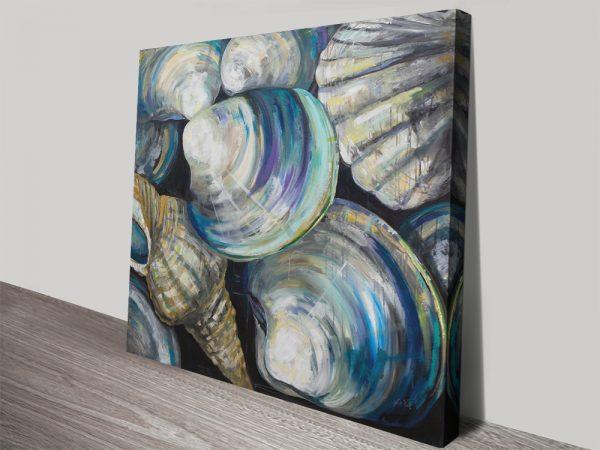 Key West Seashells Art Print on Canvas