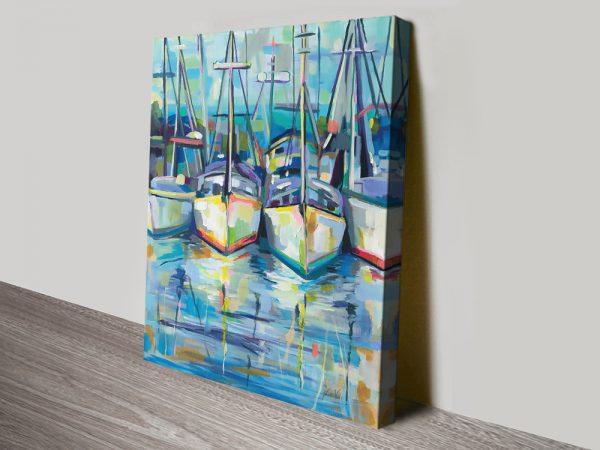 Morning Dock Jeanette Vertentes Nautical Art