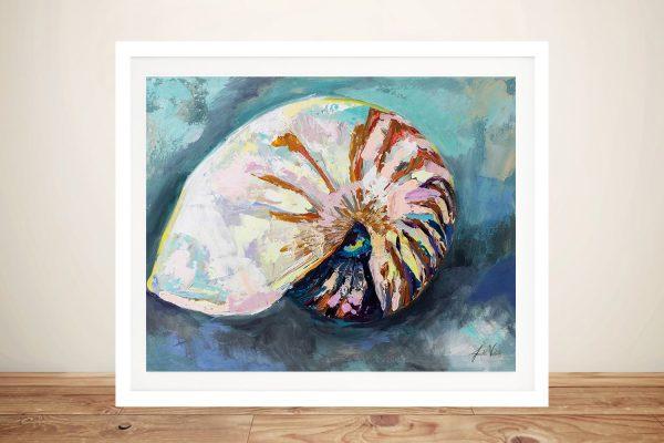 Nautilus Shell Framed Watercolour Print