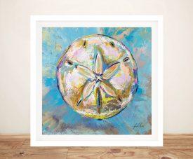 Sand Dollar Framed Watercolour Print