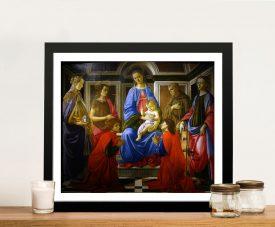 Madonna & Child with Six Saints Framed Print