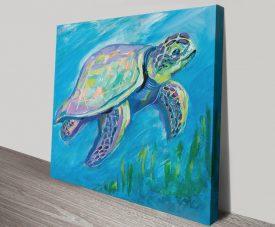 Buy Sea Turtle Swim Underwater Art Print
