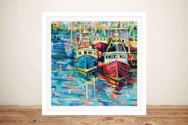 Ready to Hang Stonington Docks Framed Art