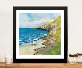 The Bluffs Watercolour Coast Scene on Canvas