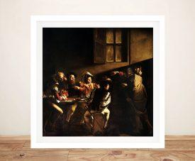 The Calling of Saint Matthew Classic Art Print