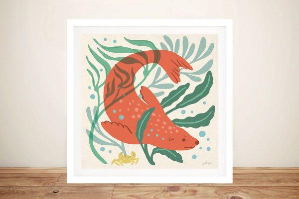 Framed Under the Sea ll Print on Canvas