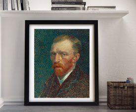 Framed Self Portrait Classic Van Gogh Art