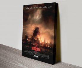 Godzilla Movie Poster Print on CanvasGodzilla Movie Poster Print on Canvas