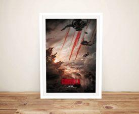 Buy a Framed Godzilla Poster on Canvas