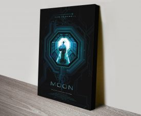 Moon Stretched Canvas Film Poster Print