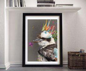 Abstract Kookaburra Karin Roberts Wall Art