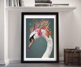 Karin Roberts Framed Abstract Swan Art