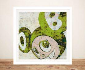 And Then Framed Murakami Art in Green