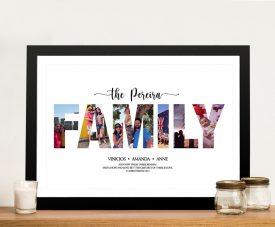 Buy a Framed Family Collage Art Print