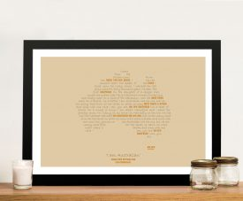 I Am Australia Custom Word Map Artwork