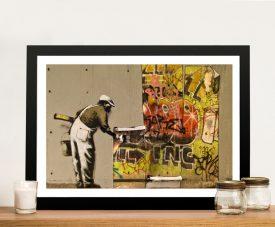 Copy & Paste Framed Banksy Art on Canvas