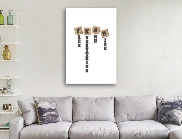 FEAR Ready to Hang Art Office Decor Ideas AU