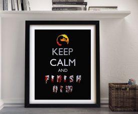 Framed Mortal Combat Keep Calm Poster