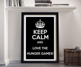 Buy a Framed Keep Calm Hunger Games Poster