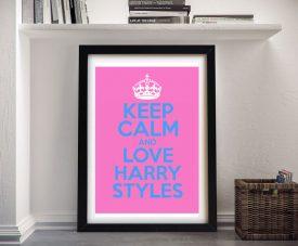 Keep Calm & Love Harry Styles Framed Poster