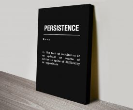 Persistence Motivational Print on Canvas