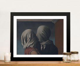 The Lovers Framed Rene Magritte Art Print