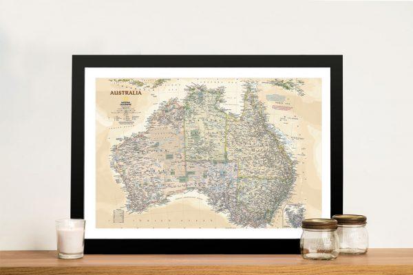 Buy a Vintage Nat Geo Map of Australia