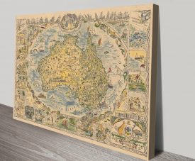 Buy a Vintage Style Map of Australia