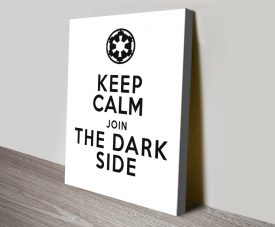 Keep Calm Join The Dark Side Star Wars Poster