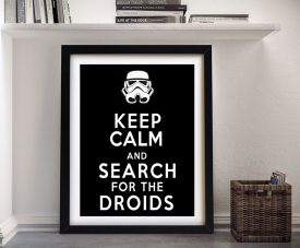 Keep Calm & Search For The Droids Wall Art