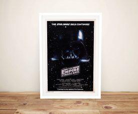 Framed Empire Strikes Back Vintage Poster