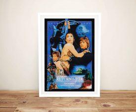 Framed Star Wars Episode Vl Film Poster