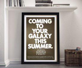 Framed Star Wars Retro Movie Poster Print