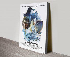 The Driver Retro Film Poster Canvas Print