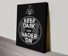 Buy Keep Dark & Vader On Star Wars Wall Art