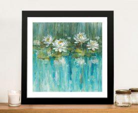 Water Lily Pond Framed Danhui Nai Wall Art