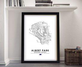 Framed Albert Park Grand Prix Circuit Art
