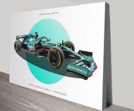 Aston Martin F1 Quality Canvas Print