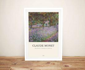 Irises in Monet's Garden Modern Composition