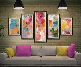 Colourful Garden Framed 5-Piece Wall Art