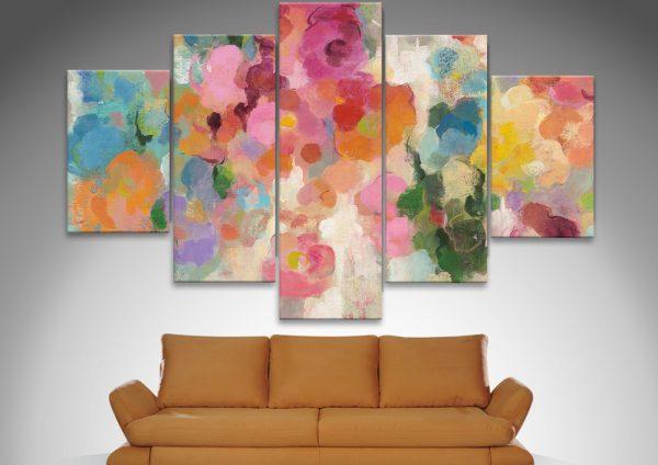 Colourful Garden Split Panel Art Great Gifts Online