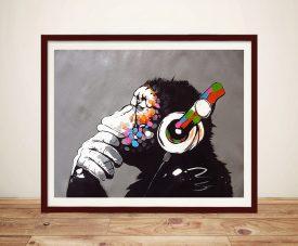 DJ Monkey Framed High Resolution Wall Art