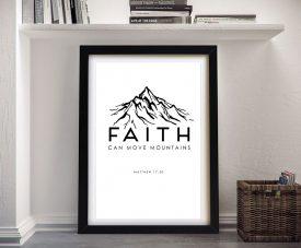 Faith Framed Black & White Christian Art