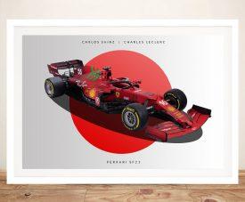 Ferrari F1 Car Framed Print on Canvas