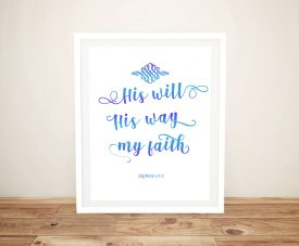 Buy a Framed His Will Religious Canvas Print