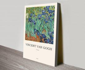Irises Modern Art Composition on Canvas