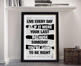 Framed Muhammed Ali Quote Wall Art
